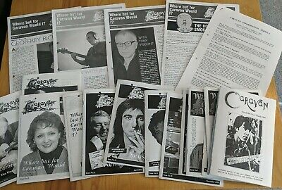 Original CARAVAN PROG ROCK BAND 19 X Fanzines Newsletters #2 Through To #20 • 40£