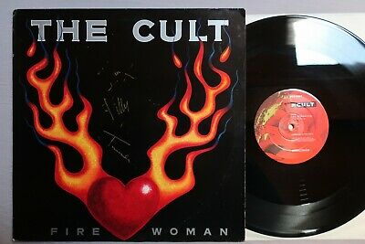 THE CULT Fire Woman BEGGARS BANQUET 12-inch BEG 228T ~ AUTOGRAPHED ~ ! • 150£