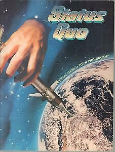 STATUS QUO Never Too Late TOUR PROGRAMME UK 1981 Large Programme • 12.59£