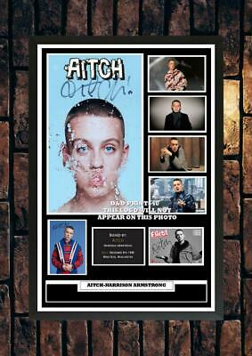 (#357) Aitch Harrison Armstrong Signed A4 Photo//framed (reprint @@@@@@@@@@@@@@@ • 14.99£