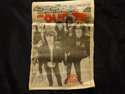 Def Leppard Vintage Clipping Sounds Music Paper 4 July 1981 Nwobhm Interview • 5£