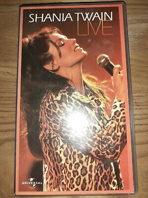 Shania Twain Live. VHS Video, Universal Music No. 0599543, 1999. Vg Condition. • 2.50£