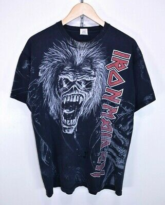 IRON MAIDEN NO PRAYER ON THE ROAD All Over Print T Shirt T-Shirt Tshirt Size XL • 34.95£