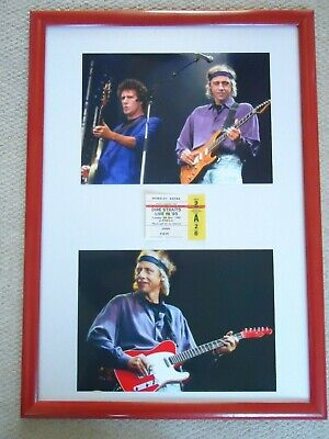 Dire Straits Concert Ticket 1985 + Two Dire Straits Mark Knopfler Photos 1991    • 37.50£