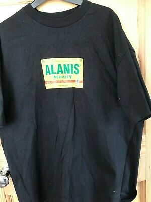 ALANIS MORISSETTE  - Original Promotional  T Shirt 1995 /  JAGGED  LITTLE PILL  • 29.99£