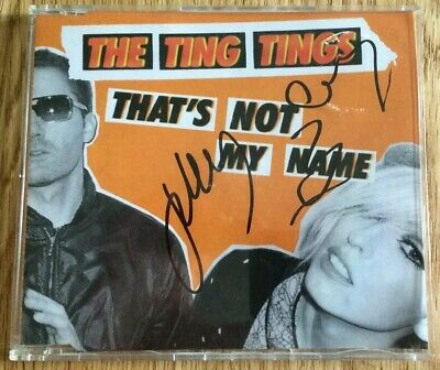 The Ting Tings Signed Autographed CD Single (2008) That's Not My Name • 19.99£
