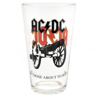 AC/DC Large Glass Official Licensed Product • 9.60£