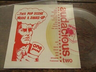AUDACIOUS TWO  (Gag, Henry Rollins, Ablemesh Etc) Clear 7  Flexi In Pic Sleeve • 2£