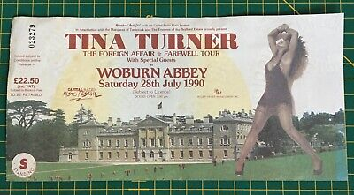 Tina Turner - Woburn Abbey, Saturday 28th July 1990, Ticket Stub • 14.99£
