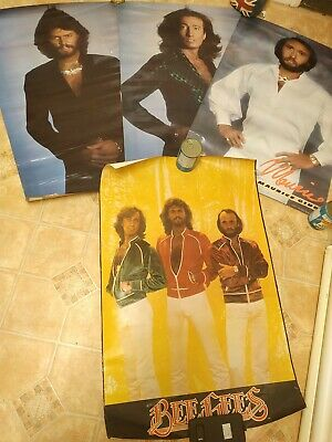 Full Set Of 4 X 1979 FAN CLUB Posters -  BEE GEES - Awesome Set • 59.99£