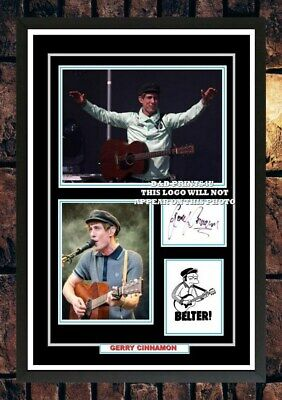 (#429)  Gerry Cinnamon Signed A4 Photo//framed (reprint)  Great Gift @@@@@@@@@@@ • 14.99£