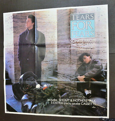 TEARS FOR FEARS Songs From The Big Chair ORIGINAL UK RECORD SHOP LARGE POSTER • 11.99£