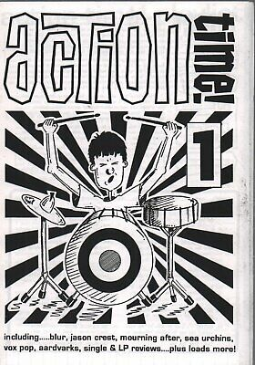 ACTION TIME 1 FANZINE A5 Black And White Indie Fanzine Featuring Blur, Mourning • 6.29£