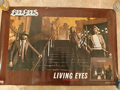 1981 USA Living Eyes Album Poster -  BEE GEES -  • 25£