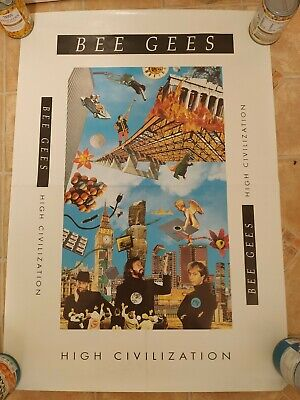 1991 High Civilization Album Poster -  BEE GEES -  • 14£