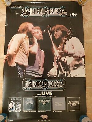 1976 Here At Last ...  Live Album Poster -  BEE GEES - USA • 32.99£
