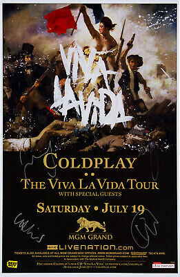 COLDPLAY Signed 'Viva La Vida' Window Poster - Pop / Rock Star Band - Preprint • 5.49£