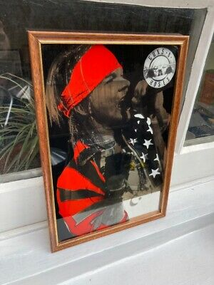 GUNS N ROSES AXL ROSE MIRROR VINTAGE 90s ORIGINAL ROCK METAL • 29.99£