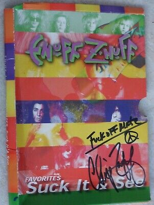 Enuff Z'Nuff DVD Cover Signed By Chip Z'Nuff • 9.99£