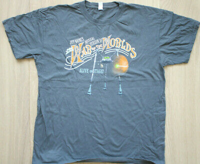 Jeff Wayne. War Of The Worlds, Alive On Stage, Tour T.Shirt, Size Large. • 13.95£