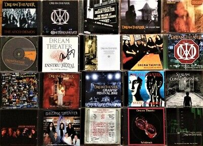 Very Rare Collection Of Dream Theater CDs, DVD Fan Club Bootlegs-20 Items • 505.95£