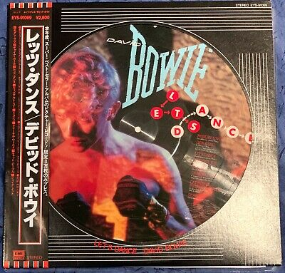 Superb Japanese David Bowie Picture Pic Disc With Obi Strip Lets Dance   • 59.98£