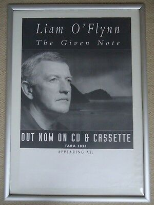 Liam O`flynn Concert Poster 1995 Unreleased Promotion Gig Poster The Given Note • 15£