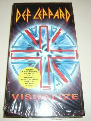 DEF LEPPARD Visualize VHS Tape W/Live From Sheffield Videos • 7.97£