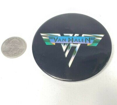 Vtg 1978 Van Halen Original Pinback Button 3  Promo Black Large • 15.73£
