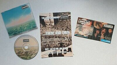 Oasis Concert Ticket Ricoh Arena Coventry + There And Then Flyer + Whatever CD • 14.99£