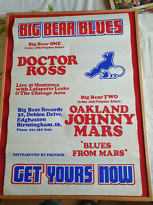 Big Bear Blues Original Poster For First Two Albums 1972 • 29.99£