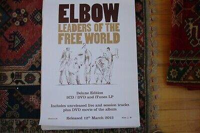 ELBOW - LEADERS OF THE FREE WORLD LARGE (70cm X 50cm) PROMO POSTER RARE • 3.95£