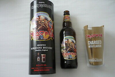Iron Maiden Trooper Beer Gift Set Rare First Edition Bottle Pint Glass • 29.99£