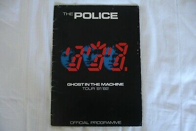 The Police Ghost In The Machine U.k. Tour Programme 1981/82 - Sting • 5.99£