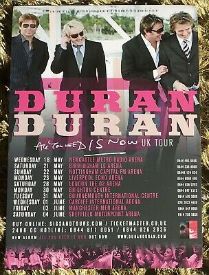 Duran Duran All You Need Is Now Tour London Flyer • 2.50£