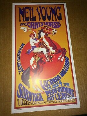 Neil Young And Crazy Horse 1st Print Show Poster 60s Artist BOB MASSE • 11.96£
