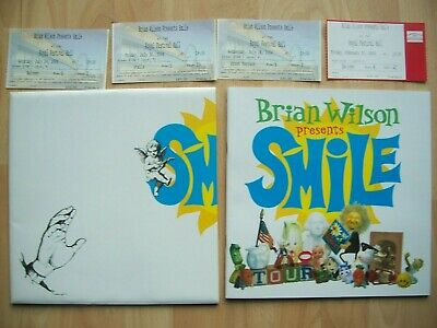 Brian Wilson Smile Tour Programme And 4 Used Ticket Stubs 2004 • 58.50£