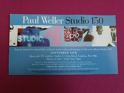 Paul Weller Studio 150 Tv Recording Exclusive Invitation  • 4£