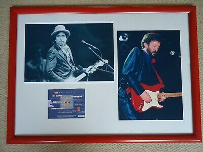 MASTERS OF MUSIC Concert Ticket 1989 CLAPTON/ DYLAN+ TWO PHOTO IMAGES  3 GEMS • 40£