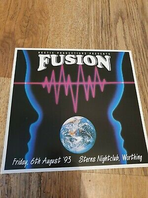 Fusion @ Sterns Nightclub Worthing 6.8.1993 Square Rave Flyer  • 0.50£