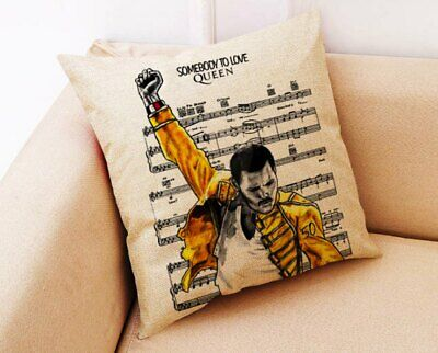 *FREDDIE MERCURY* QUEEN Cushion/Pillow Cover 45* X 45* Cm. NEW. • 8.99£