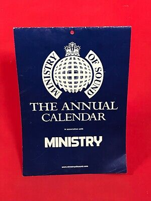 MINISTRY OF SOUND 2001 Calendar Official 2000 EXCELLENT CONDITION • 23.99£