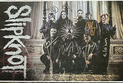 SLIPKNOT  SIGNED 16x12 PHOTO AUTOGRAPHED COREY TAYLOR RARE 8 MEMBERS INPERSON • 700£