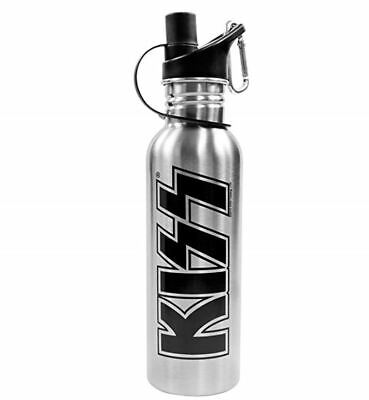 KISS 23oz Stainless Steel Water Bottle With Carabiner NEW • 9.54£