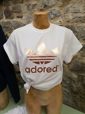Adored Rose Gold Logo Tee T Shirt Stone Roses Madchester Hacienda Ian Brown • 13.99£