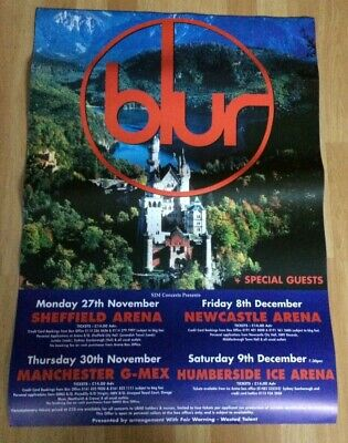 Blur Original UK Large Tour Poster 59cm X 83cm Great Escape Tour 1995 • 25£