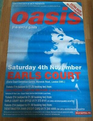 Oasis Promo Fly Poster Earls Court Original Vintage From 1995 Liam • 75£