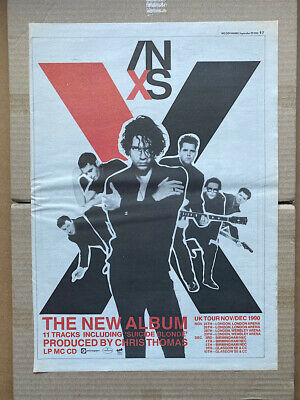 INXS X POSTER SIZED Original Music Press Advert From 1990 With Tour Dates (creas • 11£