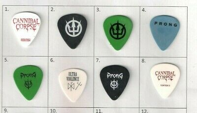 Collection Of 6 Rare And Collectable PRONG Guitar Picks / Plectrums • 19.99£