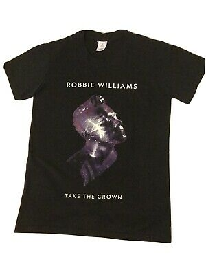 Official Merch Robbie Williams 2013 Take The Crown Tour T Shirt SIZE S•BRAND NEW • 3.99£
